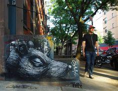 Roa's Walls in NYC - unurth | street art #streetart #roa