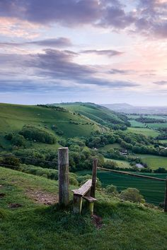 Sunset at Devil's Dyke, Sussex, England.