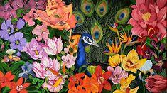 80x140cm acryl #bird #art #painting #flower Bird Art, Flowers, Painting, Artworks, Florals, Painting Art, Paintings, Flower, Drawings