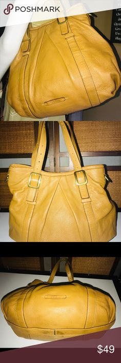 9c35c1f61fd Cole Haan Pleaded Pebble Tan Leather Satchel Bag Cole Haan Pleaded Pebble  Tan Leather Satchel Bag
