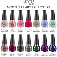 Nicole By OPI Nail Modern Family Nail Polish Collection