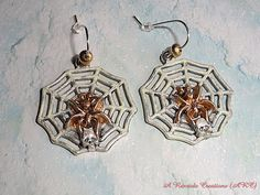 Halloween Earrings / Spider Earrings / Spider by ARexrodeCreations