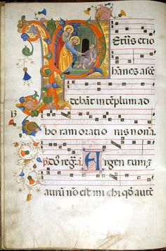 manuscrit leaf from antiphonary - Recherche Google