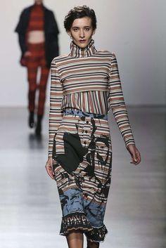 Katya Tolstova walks the runway for Francesca Liberatore, Fall-Winter 2017, New York, Womenswear модель Катя Толстова