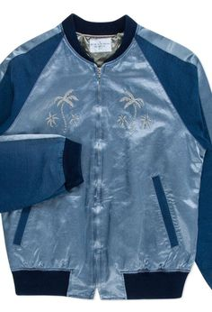 bea525fce9c Paul Smith - Paul Smith Men's Sky Blue Satin Embroidered Bomber Jacket  Embroidered Bomber Jacket,