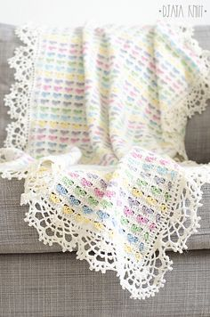 Light Hearts Blanket – Free Pattern! Download free written instructions!