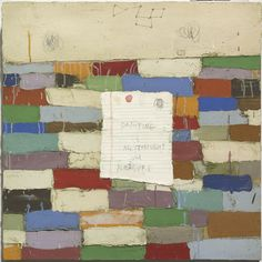 "Squeak Carnwath, ""Painting Is"" 2010, Oil and alkyd on canvas, 24 x 24 in"