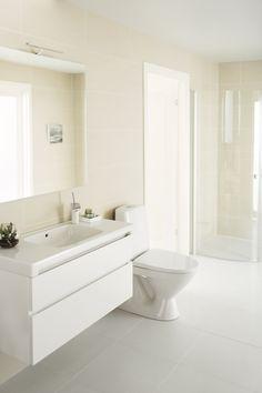 IDO Seven D -sarjan kalusteiden syvyys on vain 400 mm, joten ne sopivat myös pienempiiin kylpyhuoneisiin.