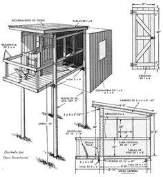 Una CABAñA en el ARBOL del PATIO o construida sobre postes - Mi Mecánica Popular