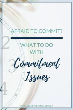 how to work on commitment issues