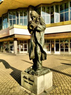 A Statue of Miles Davis in Kilece, Poland. Dedicated to his achievements and great influence on Jazz music. This shows his influence across all parts of the world and not only America.