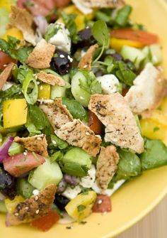 Fattoush. I want some Arab food right meow!