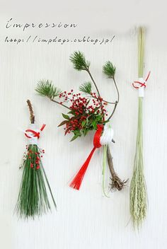 【 Impression information 】 New Years Decorations, Flower Decorations, Japanese Ornaments, Japanese New Year, Christmas Deco, Xmas, Nouvel An, New Year Card, Party Centerpieces