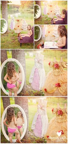 Princess photo shoot...except my daughter would be clothed!