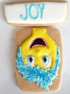Joy️ from Inside Out - sugar cookie art - all things belle - sweet jenny belle bakery