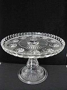 Victorian Eapg Roman Rosette High Standard Cake Stand. Click on the image for more information.