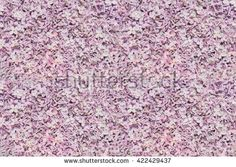 Lilac blossoms blooming pattern bed of flowers