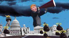 Mussolini re-incarnate Trump works his billion dollar megaphone to reign narcissism down on Washington DC!http://pic.twitter.com/2EhTSdhh8Q