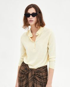Image 4 of MERINO SWEATER WITH POLO COLLAR from Zara