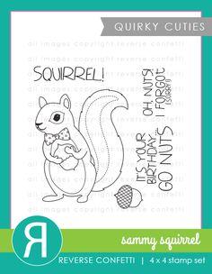 Pickled Paper Designs: Countdown to Confetti: Sammy Squirrel
