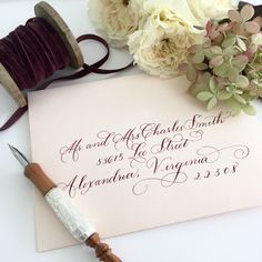 Hand Calligraphy by Laura Hooper Calligraphy