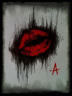 """KISSES BITCHES -A"" #ChrisMonteith #KissesBitchs #PrettyLittleLiars #RedLips"