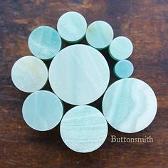 Amazonite Stone Plugs - Available in 2g 0g 00g 7/16 1/2 9/16 5/8 3/4 7/8 1
