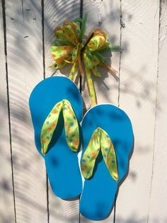 Personalized Wall Flip Flop Decoration for by SouthernAccentsEtc
