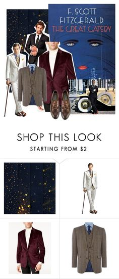 gatsby new by long-long on Polyvore featuring Chester Barrie, Lauren Ralph Lauren, Henderson, Gatsby, men's fashion and menswear