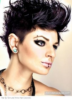 Punk Short Quiff Hair Style                                 coolness