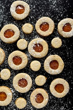 Pistachio Linzer Cookies With Orange Marmalade