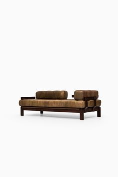 Daybed / sofa in the manner of De Sede and probably produced in Sweden