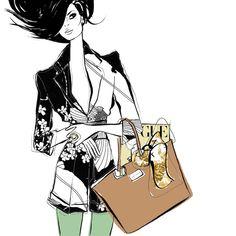 New fashion illustration bag megan hess 59 ideas Megan Hess Illustration, Fashion Illustration Sketches, Illustration Mode, Fashion Sketches, Fashion Drawings, Fashion Prints, Fashion Art, New Fashion, Trendy Fashion