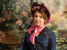 1800's Ladies Silk Civil War Bonnet Hat  #HatsHeadwear