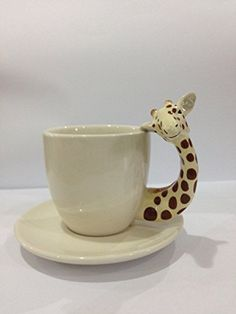 Huayoung Cute Animal Handle Cups with Saucer Tea Cups Coffee Mug Sets Deer -- Read more  at the image link.