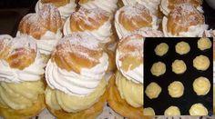 Skvělý recept, který mě naučila naše cukrářka z vesnice. Její větrníky byly tak dobré, že si je objednávali lidé z dalekého okolí. Recept se mi pokaždé vydařil! Co budeme potřebovat: Na těsto: 500 ml vody 160 g rostlinného tuku 320 g polohrubé mouky 8 vajec špetku soli Pudinkový krém: 1 l mléka 3 bal. zlatého … Paper Dolls, Doughnut, New Recipes, Cheesecake, Muffin, Ale, Cookies, Breakfast, Food