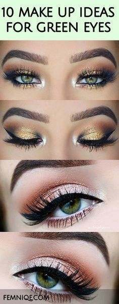 Here are 10 Beautiful Makeup Looks For Green Eyes. These makeup styles features a combination of colors that will amplify the beauty of green eyes.