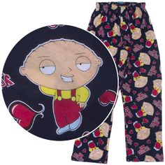 Family Guy Stewie Griffin Valentine's Day Pajamas for Men.
