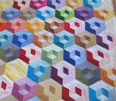 88 Best 3D quilts images in 2019 | Bedspreads, Quilt blocks, Hexagons