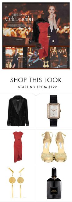 """""""Evening Lights"""" by olivochka ❤ liked on Polyvore featuring Tom Ford, Chanel, Halston Heritage, Jimmy Choo, Isabel Marant, Cult Gaia, date and evening"""