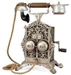 Норвежский телефонный аппарат начала 20 - го века