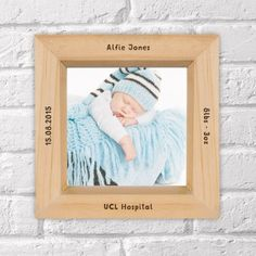 Engraved Wooden Box Photo Frame - New Baby Unique Baby Gifts, New Baby Gifts, Gifts For Boys, Wooden Boxes, Boy Or Girl, New Baby Products, Personalized Gifts, Frame, Wood Boxes