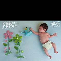 Artistic baby photo idea! Compliments of my friends the Brownheim's!