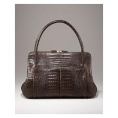 Nancy Gonzalez Linda Crocodile Bag, Brown