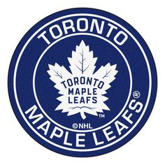 NHL - Toronto Maple Leafs Roundel Mat diameter Size: diameter Looking for a unique rug to decorate your home or office with? Roundel Mats by Sports Lice Toronto Maple Leafs Wallpaper, Toronto Maple Leafs Logo, Maple Leafs Hockey, Nhl Logos, Sports Logos, Ice Hockey, Hockey Baby, Hockey Girls, New York Rangers