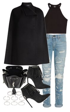 """""""Untitled #18859"""" by florencia95 ❤ liked on Polyvore featuring Zara, rag & bone, Joseph, Yves Saint Laurent and Forever 21"""