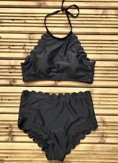 Tara Black Scallop Bikini