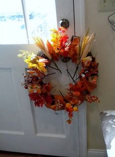 my first autumn wreath i made it my self all the items are from michaels craft store - Michaels Christmas Hours