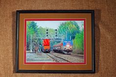 ArtPhotography TrainLandscape8x10Framed and by ADKArtsBoutique, $50.00