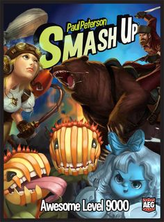 Smash Up Awesome Level 9000- The expansion to the shuffle building game Smash Up that adds Ghosts, Plants, Steampunks and the Bear Calvary.